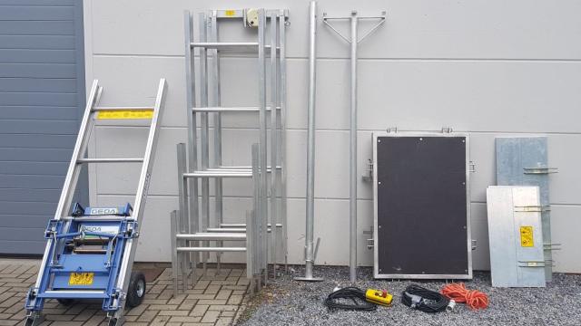 Onderdelen Dockx zelfbouwladderlift