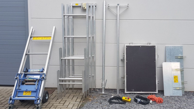 Dockx self-assembly ladder lift parts