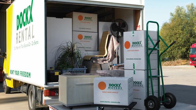 Déménager soi-même avec camion de déménagement Dockx, cartons, matériel et outils de déménagement